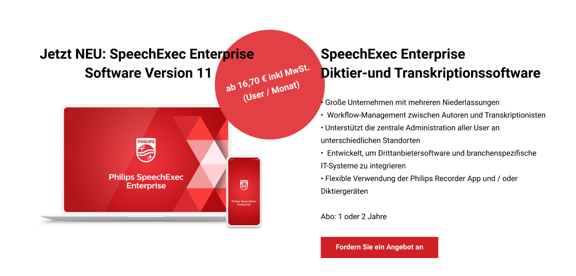 Jetzt NEU: SpeechExec Enterprise Software Version 11