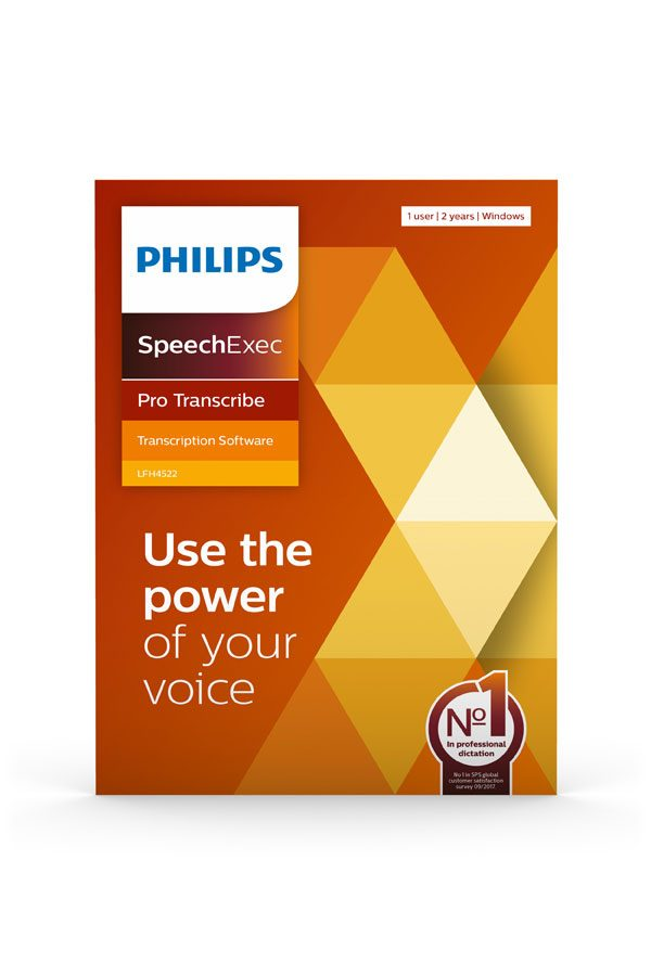 Philips SpeechExec Pro Transcribe - Use the power of your voice