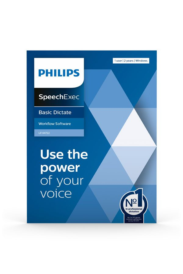 Philips SpeechExec Basic Dictate - Use the power of your voice